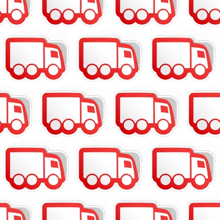 Trucks. Seamless pattern. Vector