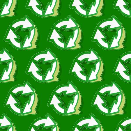Seamless recycle background. Vector pattern.    Vector