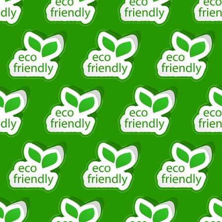 Eco friendly. Seamless pattern. Vector