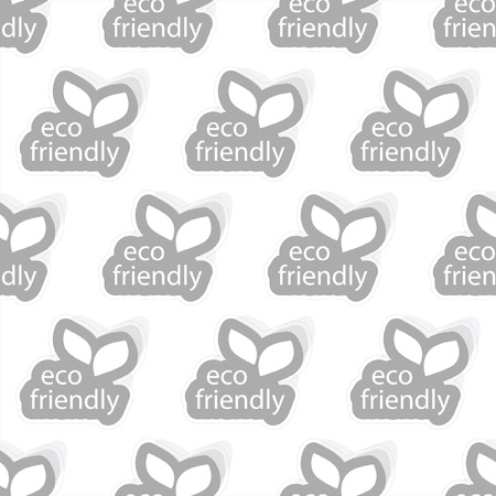 Eco friendly. Seamless background. Stock Vector - 9492409