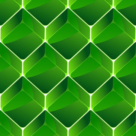 stone cold: Seamless background with green blocks.   Illustration