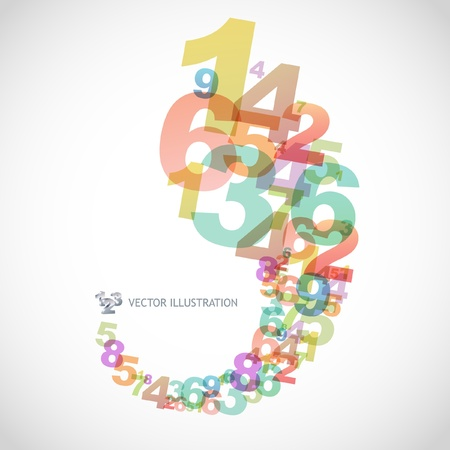 numerals: Abstract background with numbers.   Illustration