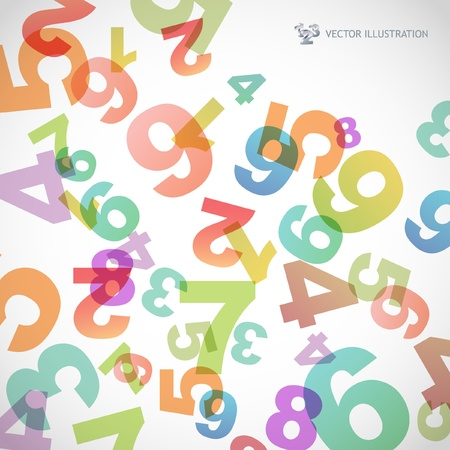 numerais: Abstract background with numbers.   Ilustra��o