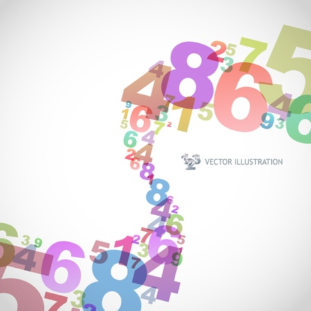 Abstract background with numbers. Stock Vector - 9492422