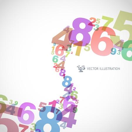 rekensommen: Abstracte achtergrond met getallen.