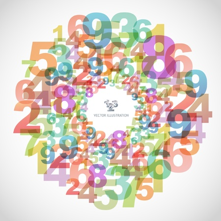 creative industries: Abstract background with numbers.   Illustration