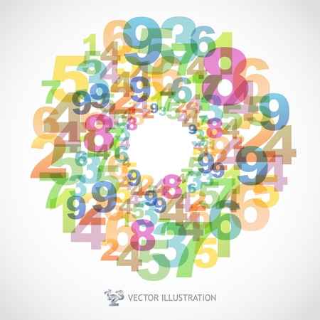 Illustration of numbers. Stock Vector - 9894843