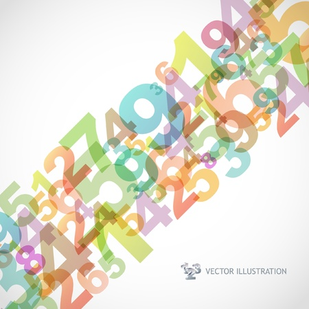 Abstract background with numbers. Векторная Иллюстрация