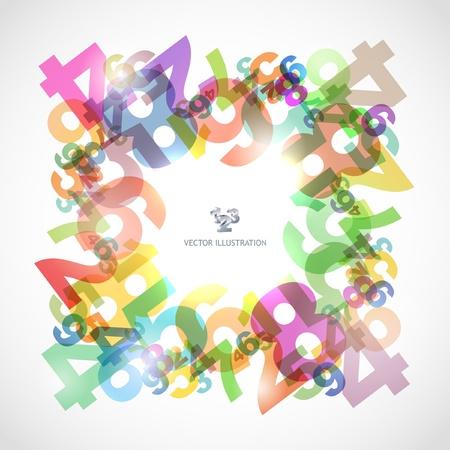 cijfer vier: Abstracte achtergrond met nummers.
