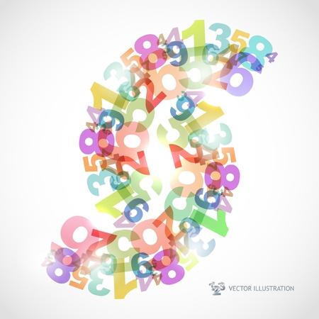 numero nueve: Fondo abstracto con n�meros.
