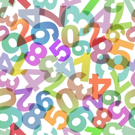 random pattern: Abstract background with numbers.   Illustration