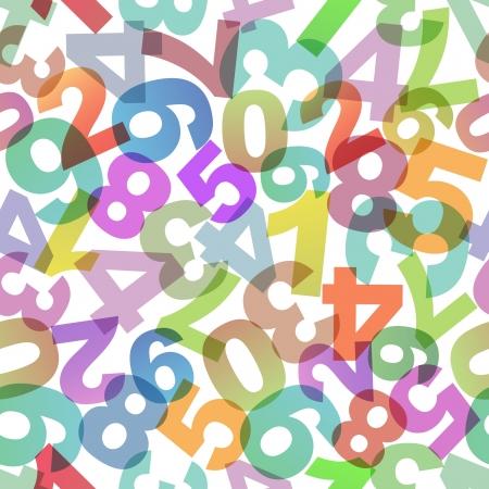 Abstrakcyjna tła z liczbami.