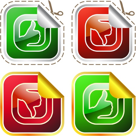 Approved and rejected sticker set. Stock Vector - 10066898