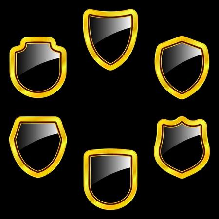 panoply: Vector set of heraldic symbols
