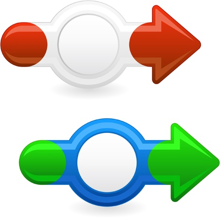 leading the way: Arrow set for web. Vector illustration.