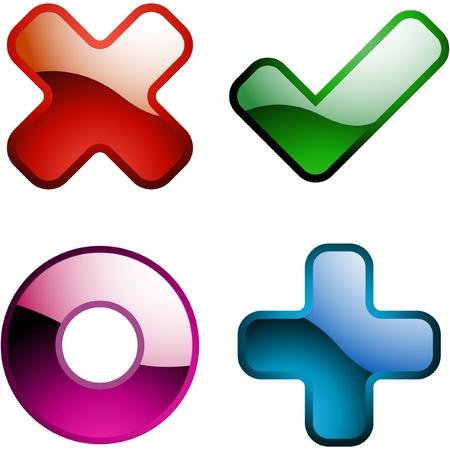 Vector icono hermoso conjunto.  Ilustración de vector