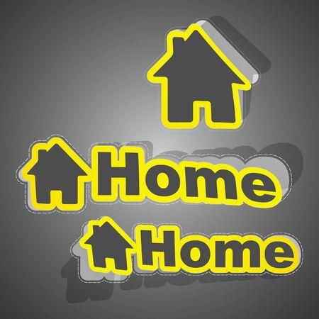 installateur: Huis sticker set Stock Illustratie