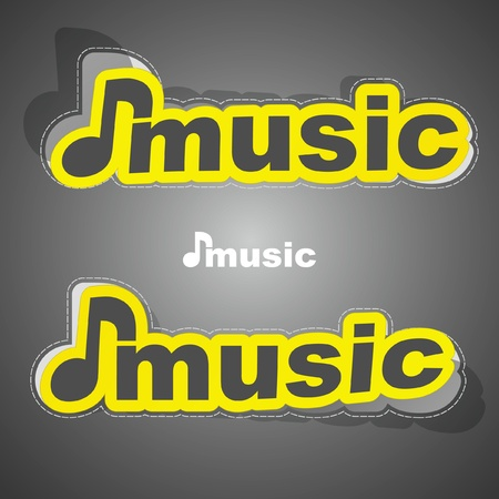 Music sticker set. Vector illustration. Vector