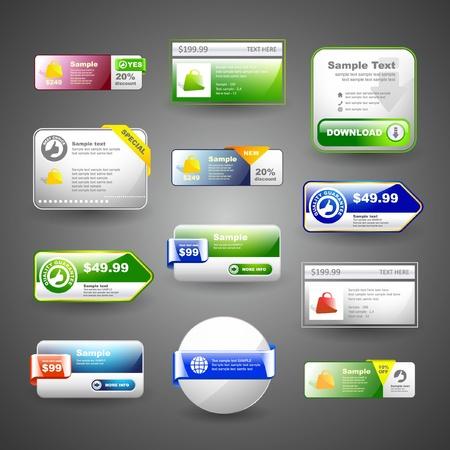 Vaus sale design elements   Stock Vector - 9997148