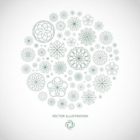 advertising logo: Floral illustration.