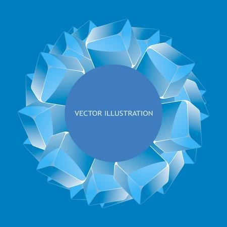 multitude: Resumen de fondo con cuadros azules Vectores