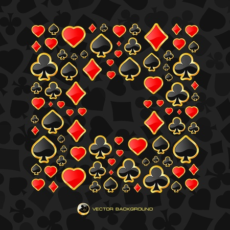jack of diamonds: Vector gambling composition. Abstract background.  Illustration