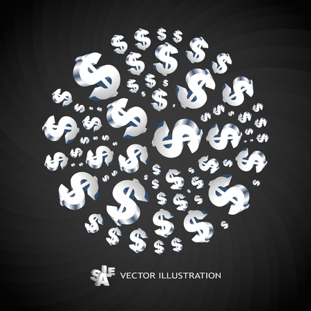 cost savings: Abstract background with a dollar symbols. illustration.  Illustration