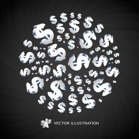 podatek: Streszczenie tle z symbolami dolara. ilustracji.