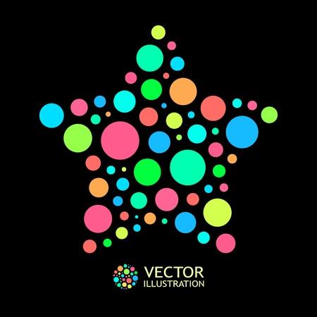 figure logo: Resumen de antecedentes de colores. Vectores