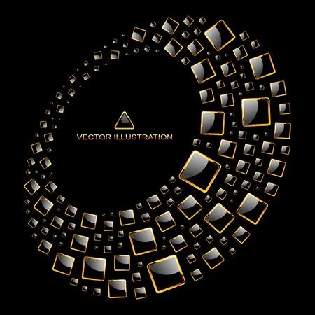 luxe: Abstrait illustration.