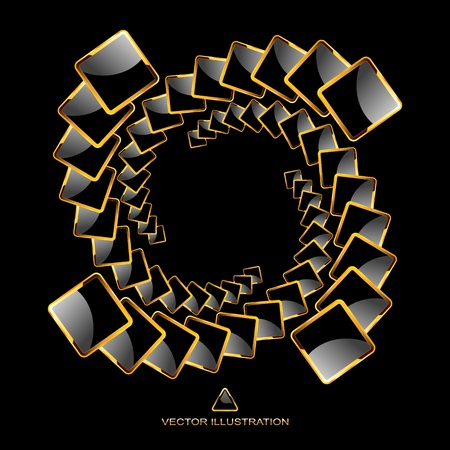 Vector abstract background. Vector