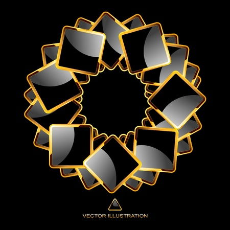 jewelry design: Vector abstract background.