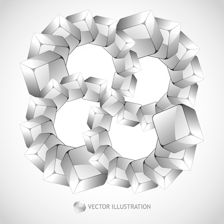 basic shapes: Abstract background with transparent boxes