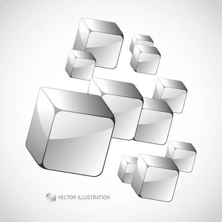 Abstract background with transparent boxes     Vector