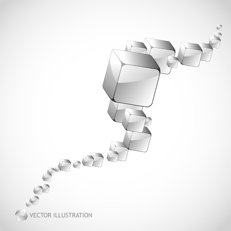 Abstract background with transparent boxes     Stock Vector - 11304206