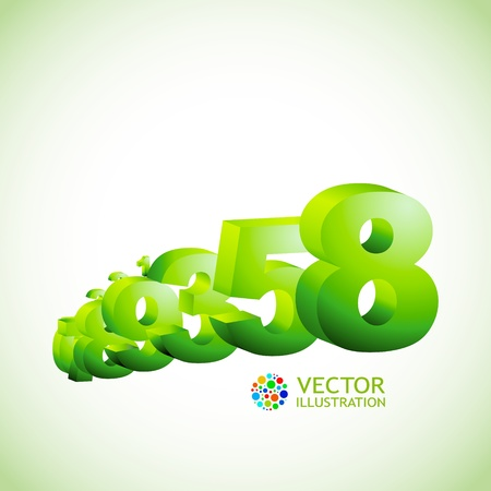 Numbers. Abstract background.   Stock Vector - 11254426