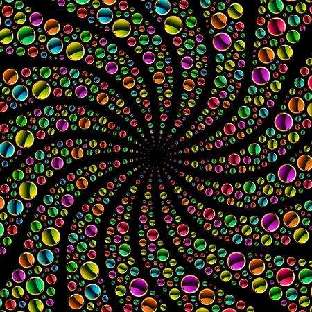 zafiro: Ilustración abstracta de colores. Vectores