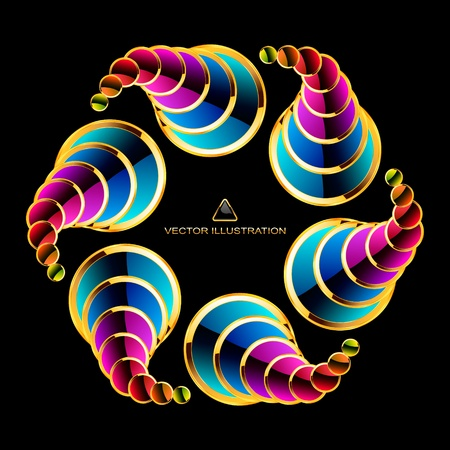 Colorful abstract illustration. Stock Vector - 11254435