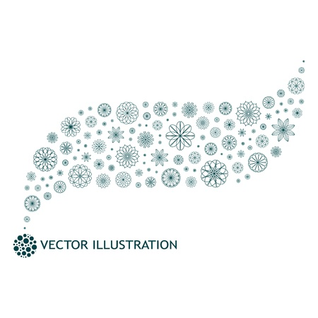Abstract background. Floral illustration. Vector