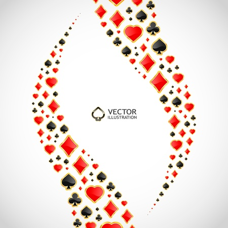 flush: Vector gambling composition. Abstract background.