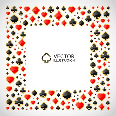 jack of clubs: Vector gambling composition. Abstract background.