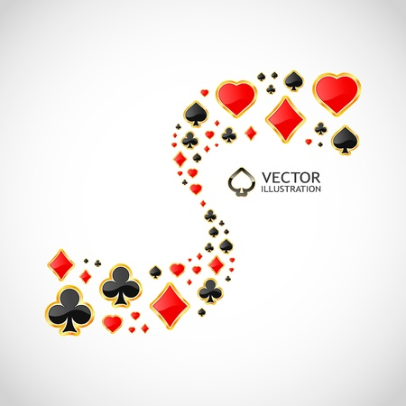 Vector gambling composition. Abstract background.   Stock Vector - 11885692