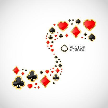blackjack: Vector gambling composition. Abstract background.