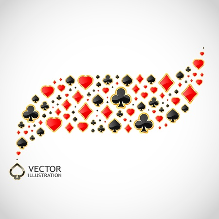 Vector gambling composition  Abstract background  Stock Vector - 16458062