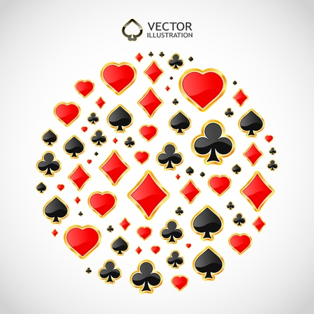 Gambling composition. Abstract illustration. Vector