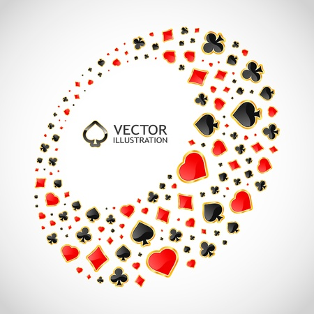 Gambling composition. Abstract frame Vector