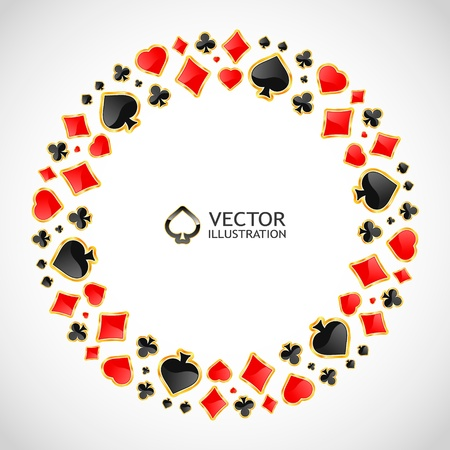 Vector gambling composition  Abstract background  Stock Vector - 16458077