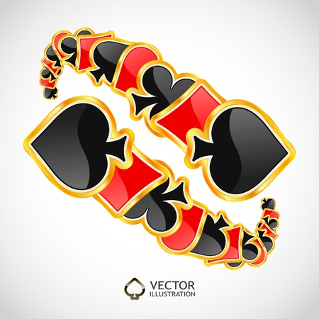 jack hearts: Gambling composition. Abstract background.