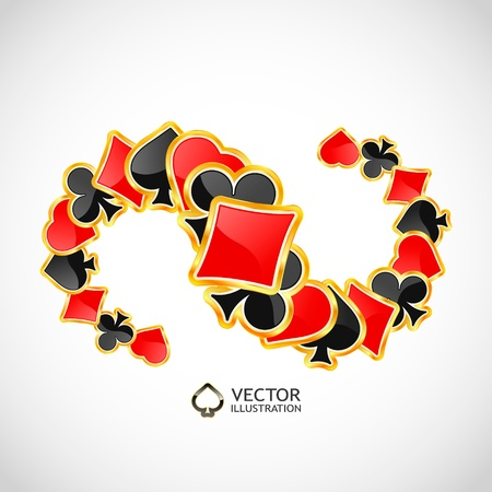 Vector gambling composition. Abstract background.   Stock Vector - 11269533