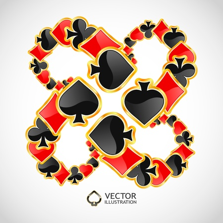 jack of diamonds: Vector gambling composition  Abstract background